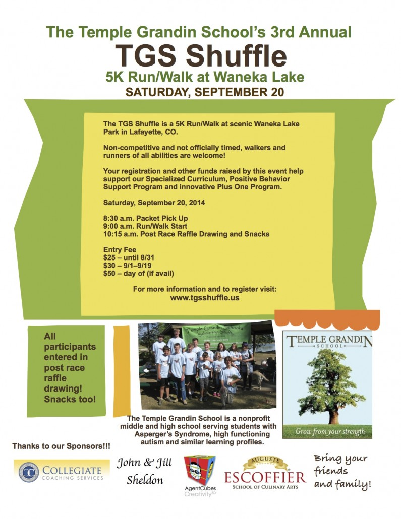 Temple Grandin School's 3rd Annual TGS Shuffle – September 20th